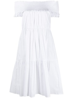 Patrizia Pepe платье с открытыми плечами и сборками