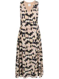 Alysi плиссированное платье с цветочным принтом
