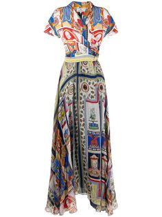 Etro платье с принтом и запахом