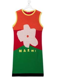 Marni Kids платье вязки интарсия без рукавов