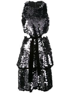 Proenza Schouler платье без рукавов с пайетками и эффектом металлик