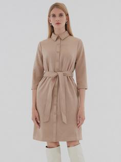 Замшевое платье-рубашка Zarina