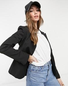 Черный однобортный пиджак Selected Siri-Черный цвет