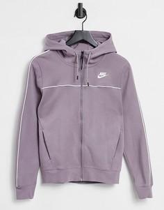 Худи бледно-фиолетового цвета из флиса Nike tech-Фиолетовый цвет