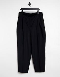 Черные прямые брюки Selected Femme-Черный цвет