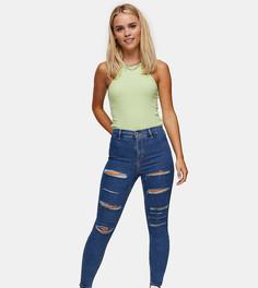Выбеленные джинсы Topshop Petite Joni-Голубой