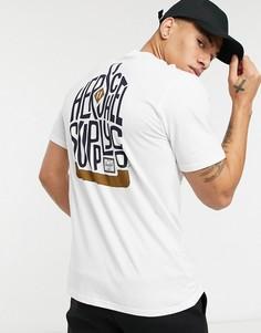 Белая футболка с круглым вырезом и логотипом на груди Herschel Supply Co-Белый