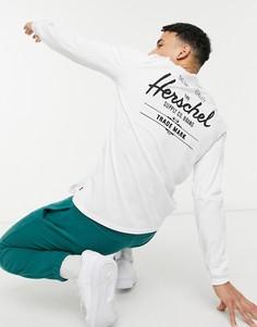 Лонгслив принтом на груди Herschel Supply Co-Белый