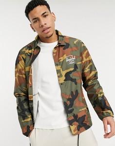 Спортивная куртка с камуфляжным принтом Herschel Supply Co-Зеленый цвет