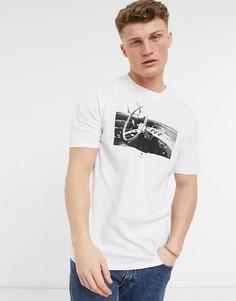Белая футболка с фотопринтом Herschel Supply Co-Белый