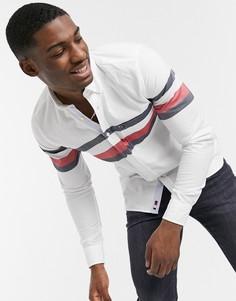 Облегающая рубашка с полосками Tommy Hilfiger-Белый