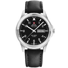 Швейцарские наручные мужские часы Swiss military SM34071.01. Коллекция Day Date