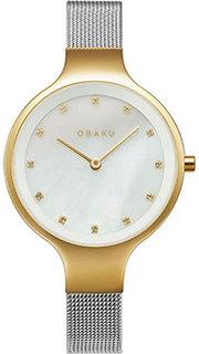 fashion наручные женские часы Obaku V173LXGWMC. Коллекция Mesh