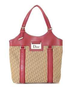 Christian Dior маленькая сумка-тоут pre-owned с узором Trotter