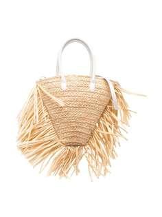 Il Gufo плетеная сумка с бахромой