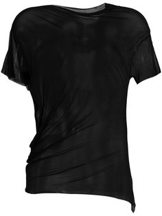 Maison Margiela прозрачная футболка с короткими рукавами
