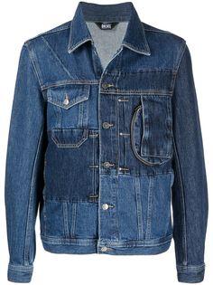 Diesel джинсовая куртка в технике пэчворк