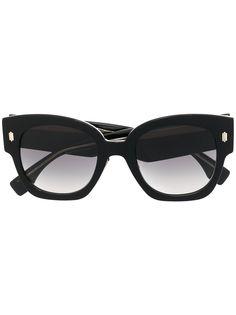 Fendi Eyewear солнцезащитные очки в массивной оправе