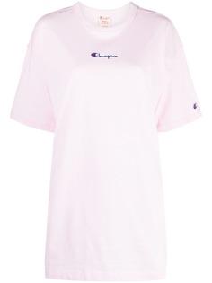 Champion удлиненная футболка с вышитым логотипом