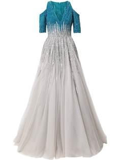 Saiid Kobeisy платье с открытыми плечами и пайетками