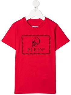 Philipp Plein Junior футболка с принтом Skull