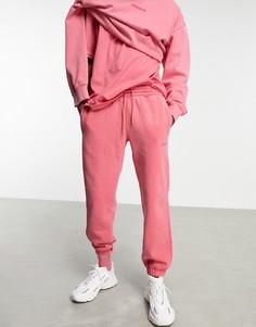 """Окрашенные джоггеры приглушенного розового цвета adidas Originals """"Premium Sweats""""-Розовый цвет"""