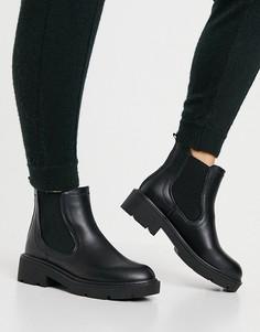 Черные ботинки челси на плоской массивной подошве Schuh Ailsa-Черный цвет