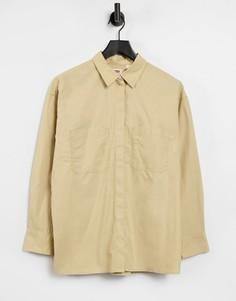 Бежевая oversized-рубашка вутилитарном стиле Levis-Бежевый
