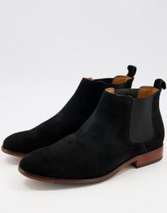 Черные замшевые ботинки челси Office Barkley-Черный цвет