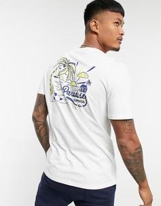 Белая футболка Quiksilver Another Escapet-Белый
