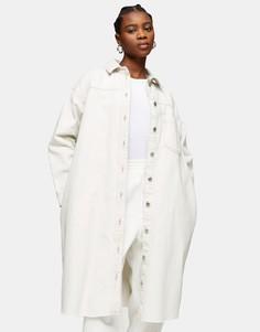 """Белый удлиненный шакет в стиле """"oversized"""" Topshop"""