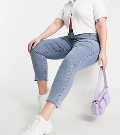 Выбеленные джинсы с завышенной талией в винтажном стиле Cotton:On Curve-Голубой