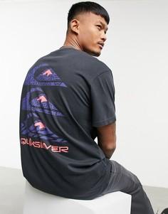 Черная футболка с принтом на спине Quiksilver Totem-Черный цвет
