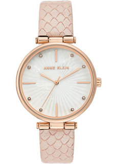 fashion наручные женские часы Anne Klein 3754RGPK. Коллекция Leather