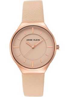 fashion наручные женские часы Anne Klein 3814RGBH. Коллекция Leather