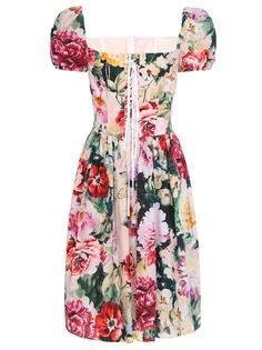 Платье мини с принтом Dolce & Gabbana
