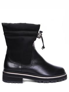 Ботинки комбинированные на овчине Pertini