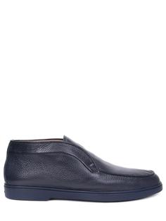 Ботинки кожаные на меху Santoni