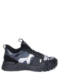 Кроссовки комбинированные Rockrunner Plus на меху Valentino