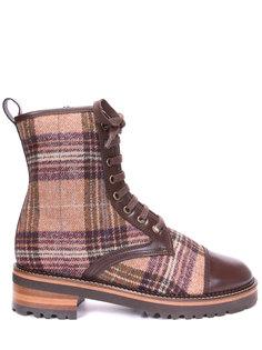 Ботинки текстильные на овчине Pertini