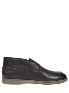 Ботинки кожаные на байке Moreschi