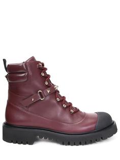 Ботинки кожаные Rockstud Valentino
