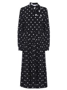 Платье шелковое в горох Valentino