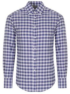 Рубашка Slim Fit в клетку Brunello Cucinelli