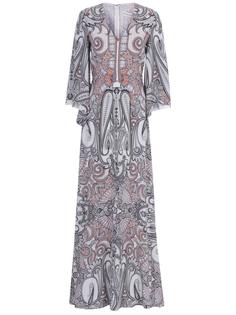 Платье шелковое с принтом Etro