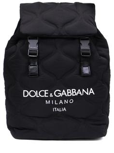 Рюкзак текстильный с логотипом Dolce & Gabbana
