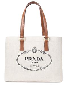 Сумка-шоппер с принтом Prada