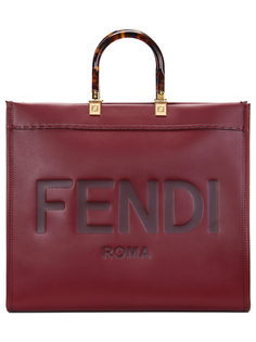 Сумка кожаная с логотипом Fendi