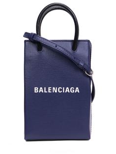 Чехол кожаный для телефона Shopping Balenciaga