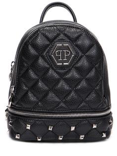 Рюкзак кожаный Mini Studs & Hexagon Philipp Plein